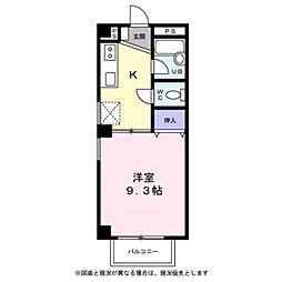 東京都青梅市東青梅1丁目の賃貸マンションの間取り