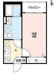 A・FLATS(エーフラッツ)[2階]の間取り
