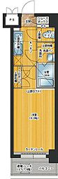 福岡県福岡市中央区警固3丁目の賃貸マンションの間取り