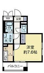 (仮称)HRMマンション 3階1Kの間取り