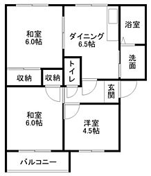 メゾンドプリュームA・B棟[2階]の間取り