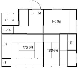 北原アパート[2号室]の間取り