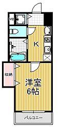 ラグゼ布施[5階]の間取り