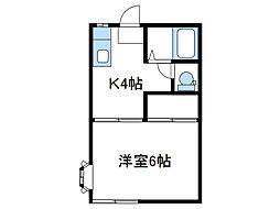 神奈川県厚木市妻田東2丁目の賃貸アパートの間取り