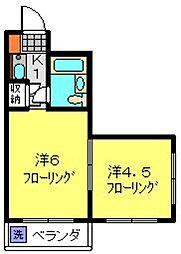 アビタシオンハイツ 3階2Kの間取り