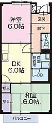 静岡県焼津市大村2丁目の賃貸アパートの間取り