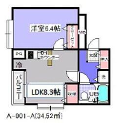 ローズマンションA1[101号室]の間取り