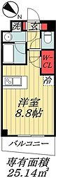 東京メトロ東西線 行徳駅 徒歩10分の賃貸マンション 3階ワンルームの間取り