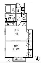 ガーデンテラス国立D[1階]の間取り