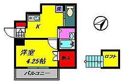 レスペデザ薬円台[1階]の間取り