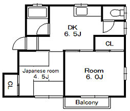 コーポ和光第二[2階]の間取り
