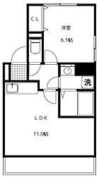 千葉県市川市福栄2丁目の賃貸アパートの間取り