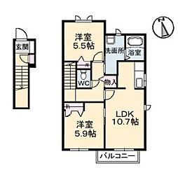 グランマスト平田 C[210号室]の間取り