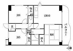 プレミール富士[3階]の間取り
