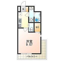 Osaka Metro御堂筋線 江坂駅 徒歩8分の賃貸マンション 5階1Kの間取り