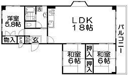 川口第一マンション[3階]の間取り