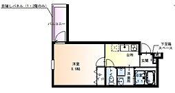 Osaka Metro谷町線 太子橋今市駅 徒歩5分の賃貸アパート 3階1Kの間取り
