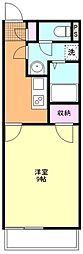 西武新宿線 南大塚駅 徒歩22分の賃貸マンション 3階1Kの間取り