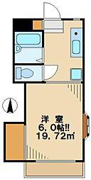 東京都多摩市桜ヶ丘1丁目の賃貸マンションの間取り