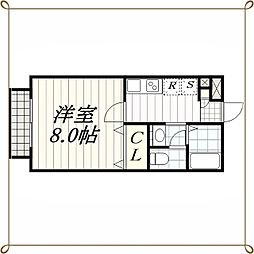 エスパシオC・D棟[2階]の間取り