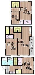 [一戸建] 東京都大田区西馬込2丁目 の賃貸【/】の間取り