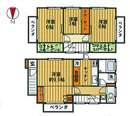 [一戸建] 神奈川県茅ヶ崎市下町屋2丁目 の賃貸【/】の間取り