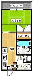 セジュール田隈A[101号室]の間取り