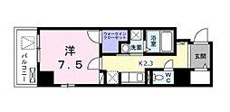 プランドール川崎大師 2階1Kの間取り