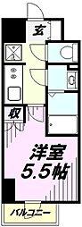 Grado新所沢 10階1Kの間取り