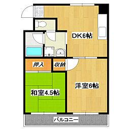 東京都江戸川区南小岩6丁目の賃貸マンションの間取り
