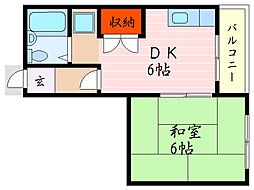 松原ハイツ[1階]の間取り