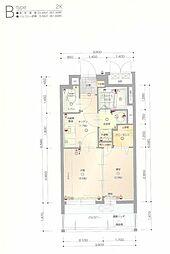福岡市地下鉄空港線 赤坂駅 徒歩5分の賃貸マンション 5階2Kの間取り