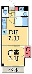 maisondeT's(メゾンドティーズ) 2階1DKの間取り