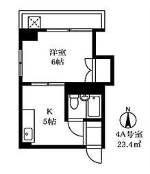杵渕ビル[4階]の間取り