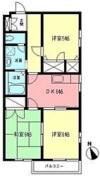 シャトレ湘南[2階]の間取り