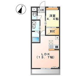 泉北高速鉄道 和泉中央駅 徒歩25分の賃貸マンション 1階1LDKの間取り