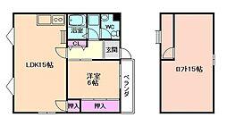 ロフト5ビル 5階1LDKの間取り