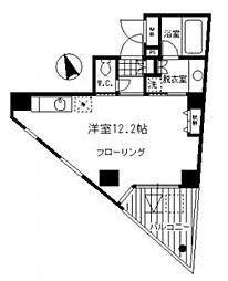 東京メトロ副都心線 北参道駅 徒歩1分の賃貸マンション 3階ワンルームの間取り