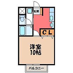 栃木県宇都宮市弥生1丁目の賃貸マンションの間取り