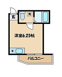 京王高尾線 京王片倉駅 徒歩1分の賃貸アパート 1階ワンルームの間取り