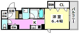 JR東海道・山陽本線 岸辺駅 徒歩10分の賃貸マンション 3階1Kの間取り