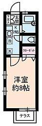 東京都北区田端6丁目の賃貸アパートの間取り