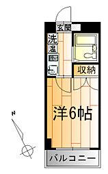 ベルビー川崎[3階]の間取り