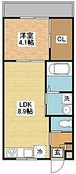 modern palazzoグランM[1階]の間取り