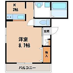 栃木県宇都宮市一条2丁目の賃貸マンションの間取り