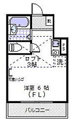 六ツ川ヒルズ[204号室]の間取り