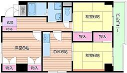 大阪府大阪市阿倍野区松崎町2丁目の賃貸マンションの間取り