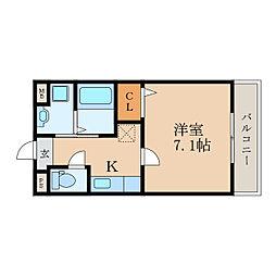 MOMOの樹[2階]の間取り