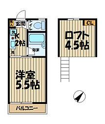 ビューテラス鎌倉[2階]の間取り