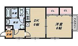 大阪府和泉市王子町1丁目の賃貸アパートの間取り